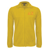 Fleece Full Zip Gold Jacket-Greek Letters