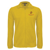 Fleece Full Zip Gold Jacket-Delta Chi Fraternity W/ Shield Stacked