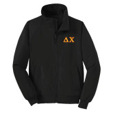 Black Charger Jacket-Greek Letters