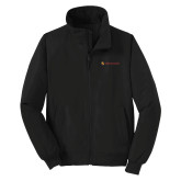 Black Charger Jacket-Delta Chi Fraternity W/ Shield Flat