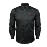 Red House Black Long Sleeve Shirt-Delta Chi Fraternity W/ Shield Flat