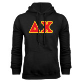 Black Fleece Hoodie-Tackle Twill Greek Letters