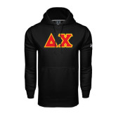 Under Armour Black Performance Sweats Team Hoodie-Tackle Twill Greek Letters