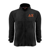 Fleece Full Zip Black Jacket-Greek Letters
