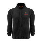 Fleece Full Zip Black Jacket-Delta Chi Fraternity W/ Shield Stacked