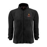 Fleece Full Zip Black Jacket-Delta Chi Fraternity W/ Shield Stacked