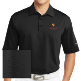 Nike Sphere Dry Black Diamond Polo-Delta Chi Fraternity W/ Shield Stacked