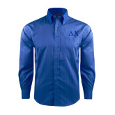 Red House French Blue Dobby Long Sleeve Shirt-Solid Greek Letters