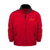 Red Survivor Jacket-Delta Chi Fraternity W/ Shield Stacked
