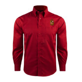 Red House Red Long Sleeve Shirt-Contemporary Coat Of Arms