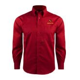 Red House Red Long Sleeve Shirt-Delta Chi Fraternity W/ Shield Stacked