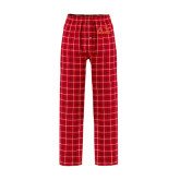 Red/Black Flannel Pajama Pant-Greek Letters