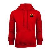 Red Fleece Hood-Badge