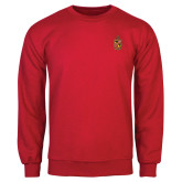 Red Fleece Crew-Contemporary Coat Of Arms