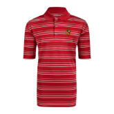 Adidas Climalite Red Textured Stripe Polo-Contemporary Coat Of Arms