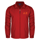 Full Zip Red Wind Jacket-Greek Letters