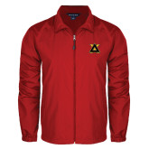 Full Zip Red Wind Jacket-Badge