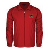 Full Zip Red Wind Jacket-Badge