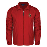 Full Zip Red Wind Jacket-Contemporary Coat Of Arms