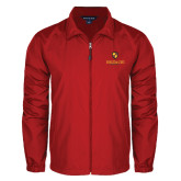Full Zip Red Wind Jacket-Delta Chi Fraternity W/ Shield Stacked