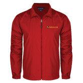 Full Zip Red Wind Jacket-Delta Chi Fraternity W/ Shield Flat