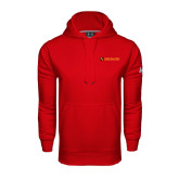 Under Armour Red Performance Sweats Team Hoodie-Delta Chi Fraternity W/ Shield Flat