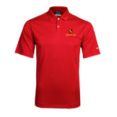 Nike Dri Fit Red Pebble Texture Sport Shirt-Delta Chi Fraternity W/ Shield Stacked
