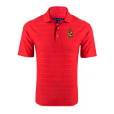 Red Horizontal Textured Polo-Contemporary Coat Of Arms