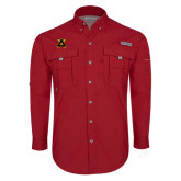 Columbia Bahama II Red Long Sleeve Shirt-Badge