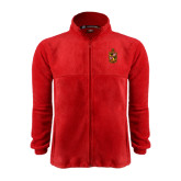Fleece Full Zip Red Jacket-Contemporary Coat Of Arms