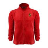 Fleece Full Zip Red Jacket-Contemporary Coat Of Arms