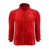 Fleece Full Zip Red Jacket-Delta Chi Fraternity W/ Shield Flat