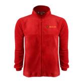 Fleece Full Zip Red Jacket-Delta Chi Fraternity W/ Shield Flat