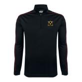 Nike Golf Dri Fit 1/2 Zip Black/Red Pullover-Badge