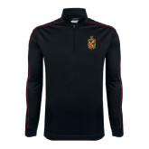 Nike Golf Dri Fit 1/2 Zip Black/Red Pullover-Contemporary Coat Of Arms