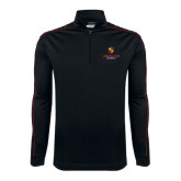 Nike Golf Dri Fit 1/2 Zip Black/Red Pullover-Delta Chi Fraternity W/ Shield Stacked