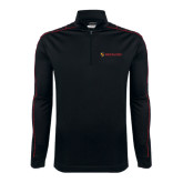Nike Golf Dri Fit 1/2 Zip Black/Red Pullover-Delta Chi Fraternity W/ Shield Flat