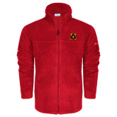 Columbia Full Zip Red Fleece Jacket-Badge