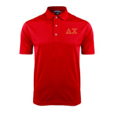 Red Dry Mesh Polo-Greek Letters