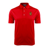 Red Dry Mesh Polo-Contemporary Coat Of Arms