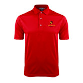 Red Dry Mesh Polo-Delta Chi Fraternity W/ Shield Stacked