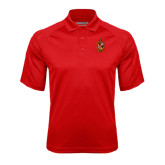 Red Textured Saddle Shoulder Polo-Contemporary Coat Of Arms