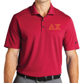Nike Golf Dri Fit Red Micro Pique Polo-Greek Letters
