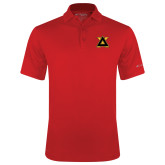 Columbia Red Omni Wick Round One Polo-Badge