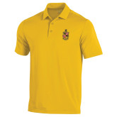 Under Armour Gold Performance Polo-Contemporary Coat Of Arms