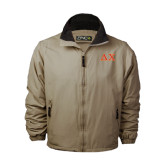 Khaki Survivor Jacket-Greek Letters