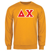 Gold Fleece Crew-Tackle Twill Greek Letters
