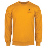 Gold Fleece Crew-Delta Chi Fraternity W/ Shield Stacked