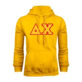 Gold Fleece Hood-Tackle Twill Greek Letters