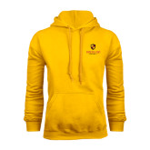 Gold Fleece Hoodie-Delta Chi Fraternity W/ Shield Stacked